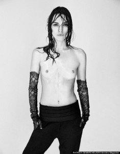 K.K pose en topless pour le magasine Interview, sous l'objectif de Patrick Demarchelier